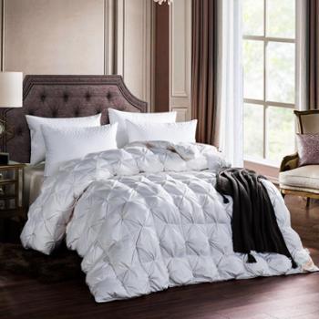 芳恩家纺 FN-B480 奢华全棉白鹅绒被 羽绒被白鹅绒被冬被加厚全棉被面保暖被子单双人秋冬