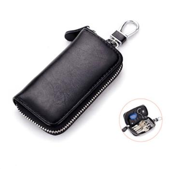 钥匙包男士真皮拉链*多功能汽车钥匙包女商务