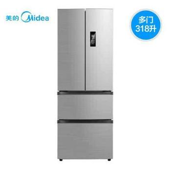 【陕西晟木电子】Midea/美的 BCD-318WTPZM(E)法式多开门电冰箱变频智能冰箱家用