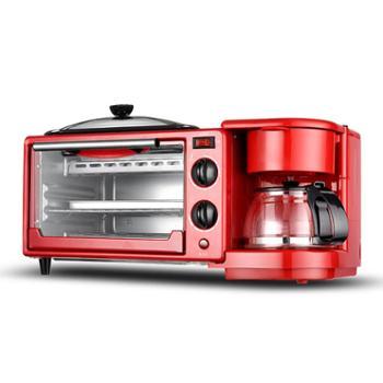 西迪早餐机神器烤面包机烤箱家用一体全自动多功能三明治吐司机