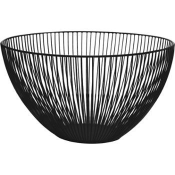 北欧风铁艺水果篮创意现代客厅茶几家用收纳水果盆简约果盘漏水篮