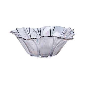 花瓣欧式水晶果盘 创意时尚个性现代简约客厅家用大号玻璃水果篮