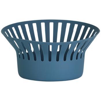现代简约北欧客厅零食收纳篮水果盘创意水果篮厨房沥水篮家用塑料