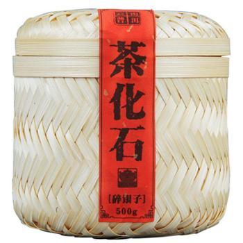 普洱茶 云南普洱 特级茶化石 糯香碎银子 500g手工竹篓装 镇店之宝