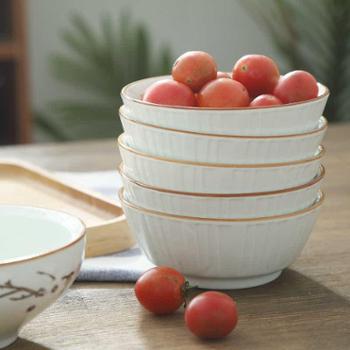 4个日式餐具陶瓷碗家用吃饭汤碗创意小碗个性米饭碗甜品碗蒸饭碗小的