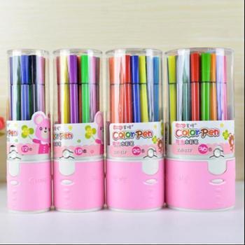 掌握 217 可洗水彩笔 画笔 韩版儿童美术用品 涂鸦笔 绘画笔24色装