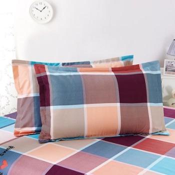 枕头套2个装磨毛印花卡通单人搭配被套床上用品
