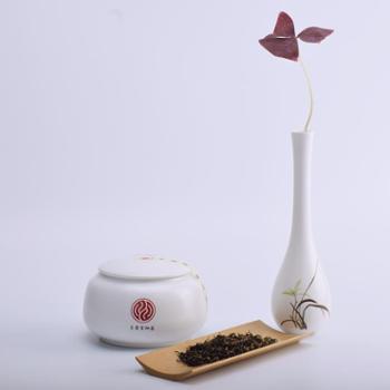 京康富硒茶汉江珍鸿特级红茶高香红茶礼盒装200g莲花瓷罐装