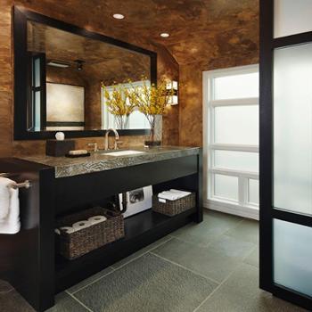 卫浴美式橡木浴室柜组合落地式简约洗手面盆池实木洗漱台盆