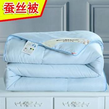 蚕丝被100%桑蚕丝春被子全棉被芯纯棉空调被夏凉被春秋薄被子双人
