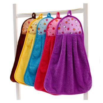 妙吉馨宝宝珊瑚绒擦手巾吸水耐用方巾3条装
