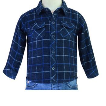 Midiross婴幼儿法兰绒休闲百搭格子衬衫HSIJ1701004