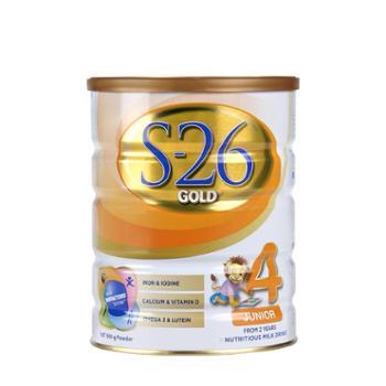 澳洲新版惠氏奶粉S26奶粉金装4段婴幼儿奶粉S26900g澳洲原装进口2岁以上宝宝2020年1月到期