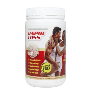 澳洲Rapid代餐奶昔香草味 750g 营养餐膳食纤维粉饱腹感果蔬粉代餐粉可食用18次 2020年7月到期