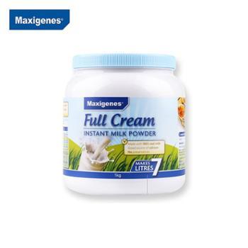 Maxigenes美可卓蓝胖子成人全脂高钙牛奶粉1kg成人儿童学生青少年中老年适用澳洲进口2021年10月到期