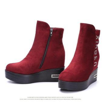 荣祖布鞋品牌专卖内增高厚底短靴