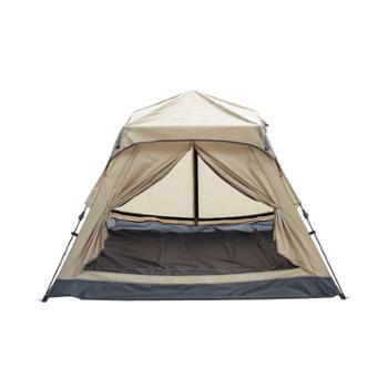 网易严选双层防风防潮自动展开3-4人帐篷沙漠驼
