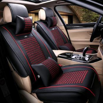 皮革汽车坐垫全包围汽车座套四季垫通用座垫