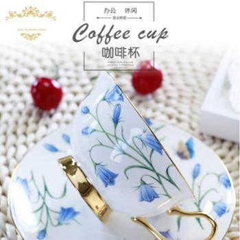 凯福森 昆顿QUINTION情侣杯欧式咖啡杯骨瓷咖啡杯碟套创意杯碟厂家直销*陶瓷红茶杯