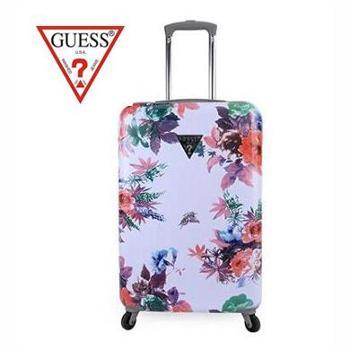 GUESS盖尔斯 印花花卉系列 20英寸拉杆硬箱 GSXE6642940WHI