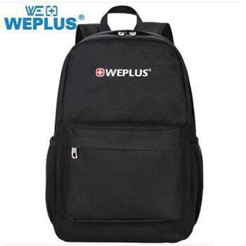 唯加/WEPLUS WP7121男女款书包 笔记本电脑双肩包 初中生学生书包 颜色随机