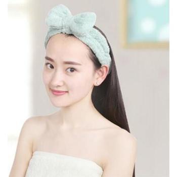 慕之风可爱发带宽边洗脸化妆头巾头箍珊瑚绒时尚发箍