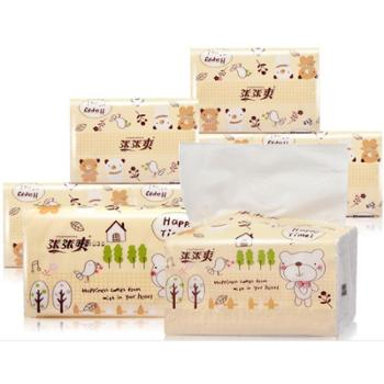 【36包超值装包邮】张张爽卡通抽纸家用纸巾餐巾纸面巾纸卫生纸厂家36包整件