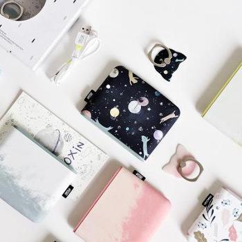 【新品 包邮】冇心口袋移动电源超薄支架可爱手机充电宝10000毫安小米礼品