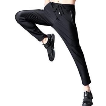 abe男装夏季网眼冰丝休闲裤户外宽松大码高弹轻薄透气速干运动裤