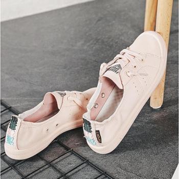 2019新款夏季板鞋真皮小白鞋潮夏款温柔鞋仙女风平底春款百搭浅口
