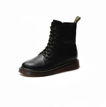 马丁靴女英伦风头层牛皮短靴欧美经典潮流皮靴