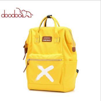 doodoo双肩包女韩版百搭学院风书包女大容量旅行背包女包