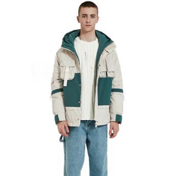 冬季潮流 羽绒服男士短款青年休闲加厚连帽工装外套男装