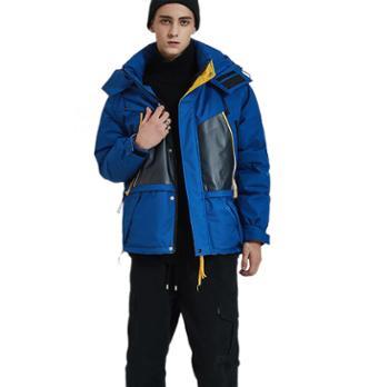 冬季原创男装 潮牌羽绒服男士 休闲加厚连帽短款工装外套