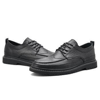 冬季潮流商务正装青年男单鞋布洛克英伦休闲男士皮鞋