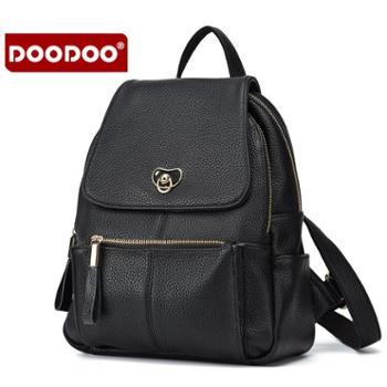 doodoo双肩包女新款潮包包女士韩版时尚大容量百搭双肩背包女D6029