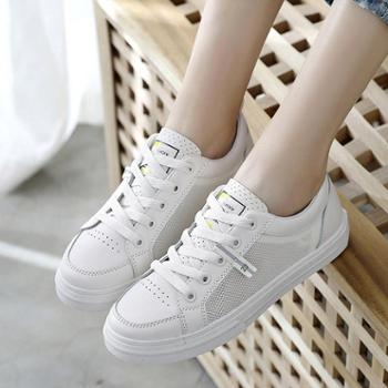 Lell/莱尔春款透气小白鞋女士板鞋新款网红鞋夏季韩版学生百搭帆布鞋平底板鞋