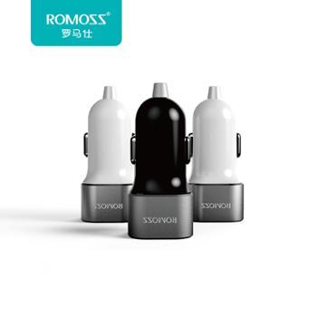 ROMOSS/罗马仕车充AM12手机平板车载充电器双USB输出点烟器汽车1A2.4A
