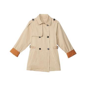 简湾风衣女短款韩版宽松英伦风时尚收腰洋气小个子外套