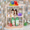 索尔诺卫生间置物架厨房落地浴室收纳架子 厕所客厅层架三角架