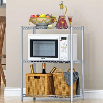 索尔诺创意三层置物架方便实用环保厨房/浴室