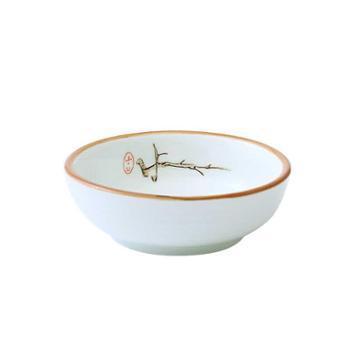 【两个装】日式日料小碟子家用陶瓷味碟蘸酱蘸料碟饭店小菜碟调味酱油碟醋碟