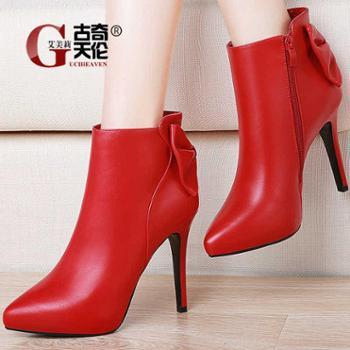 高跟鞋细跟红色新娘鞋结婚鞋新款皮鞋韩版百搭2018春季女鞋子