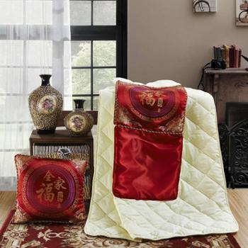 泽盟抱枕被全家福两用办公室午睡枕多功能折叠毯汽车靠垫靠枕空调被
