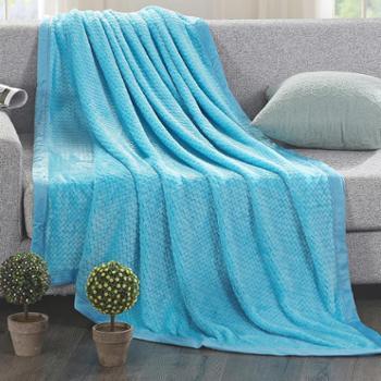泽盟家居螺旋藻彩棉四季毯加厚保暖床盖空调床单儿童盖毯
