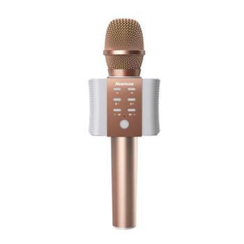 纽曼MC10手机麦克风 无线蓝牙话筒 全民K歌KTV掌上主播声卡电容麦