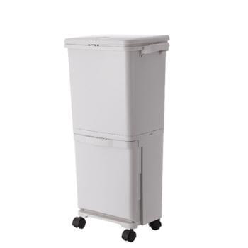 南北客多功能分类厨余垃圾桶日式厨房双层分类垃圾桶