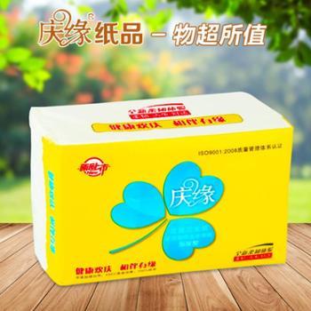 庆缘原木纯品卫生平板纸388张