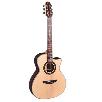 MUXIKA慕西卡民谣吉他M500/M500C/M510C云杉玫瑰木