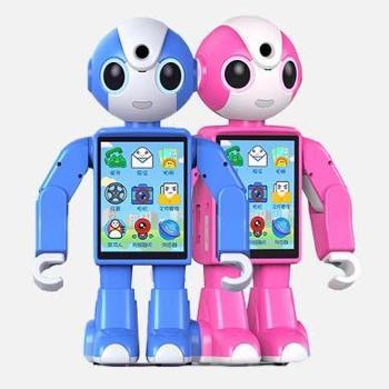智能电话教育陪伴机器人咪卡 益智早教机器人同步小学教材 帮助孩子提高成绩快乐成长 对话高科技儿童早教陪伴家用语音遥控机器人玩具
